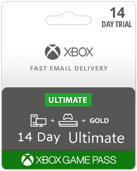 14 Day Trial Xbox Game Pass Ultimate w/ Xbox Live (Email Delivery)