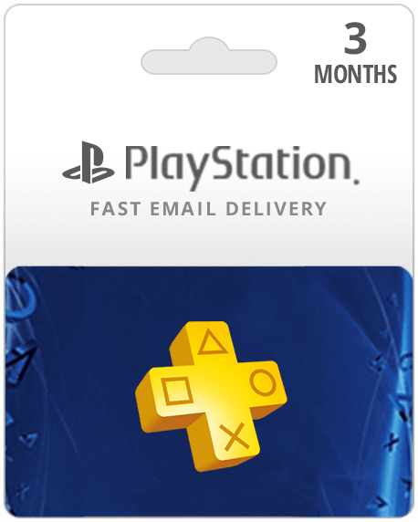3 Month PlayStation Plus Membership Gift Card